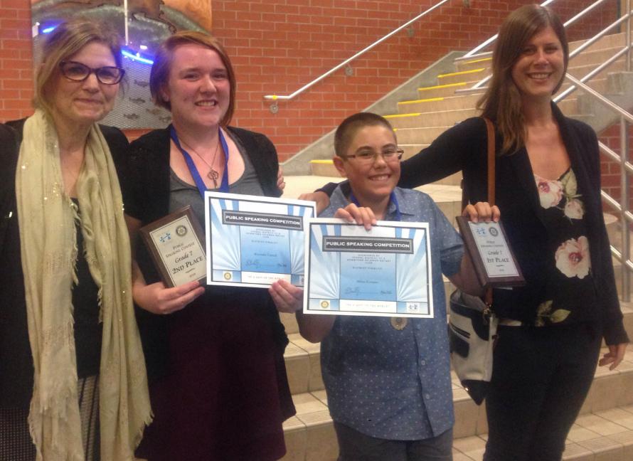 Grade 7 District & Rotary Speech Winners